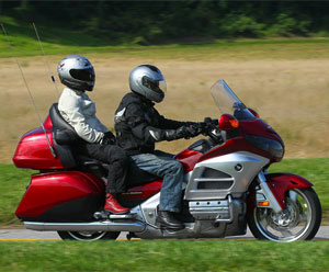 Honda Gold Wing With Passenger