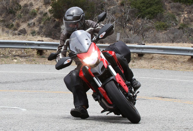 2013 Ducati Hyperstrada Action Front