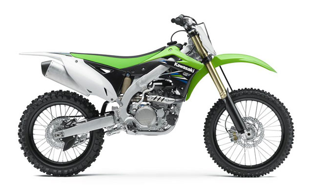 The 2014 Kawasaki KX450F carries the same hardware into battle as last year's bike. The only differences between the two are new handgrips and different graphics treatments.