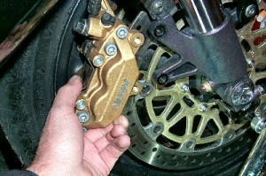 Tire Changing Front Caliper