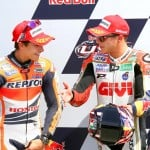 Wonder rookie Marc Marquez won in his first race at Laguna Seca, joined on the podium by fellow Honda rider Stefan Bradl.