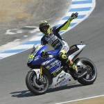 Valentino Rossi found himself the victim at the Corkscrew this time. Still, the Doctor was pleased with his third consecutive podium finish.