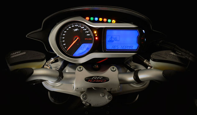 2013 MV Agusta Brutale 1090 RR Info Display