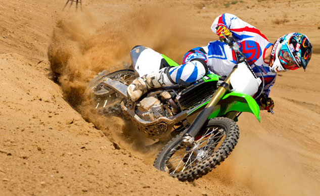 2014 Kawasaki KX250F Action Cornering