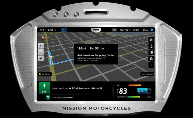 Mission Motorcycles RS GPS