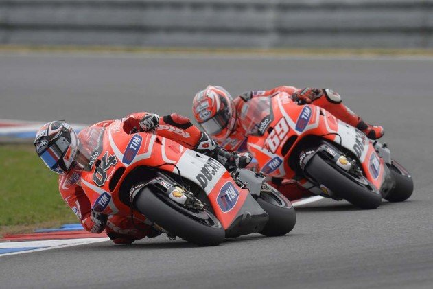 Ducati teammates Andrea Dovizioso and Nicky Hayden continued their battle at Brno, though it wasn't quite as intense as it was at Indy.