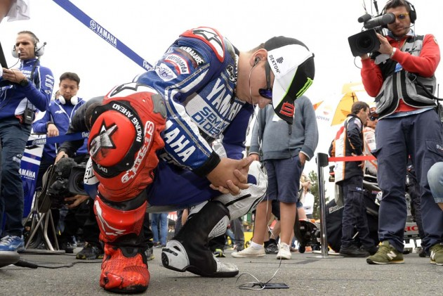 Jorge Lorenzo finds his hopes of defending his championship slipping further and further out of his graph with every race.