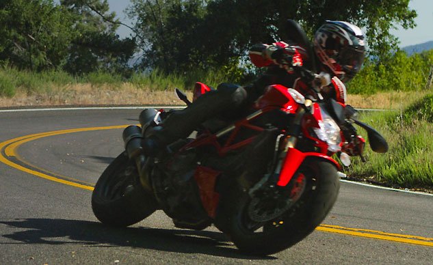 2013 Ducati 848 Streetfighter Action Front