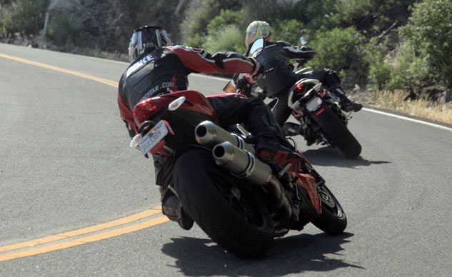 2013 Ducati 848 Streetfighter vs. MV Agusta Brutale 800 Action Rear