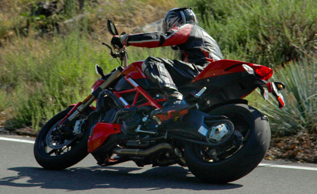 2013 Ducati 848 Streetfighter Action Left
