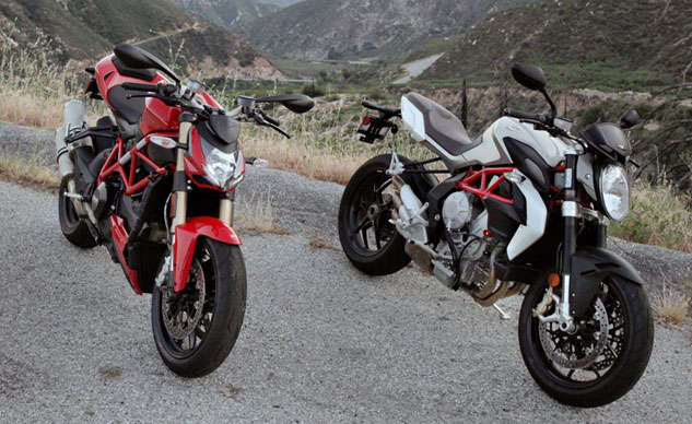 2013 Ducati 848 Streetfighter vs. MV Agusta Brutale 800 Static