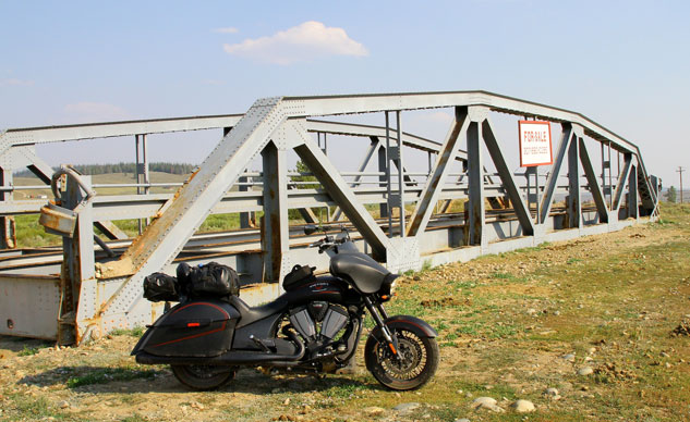 Motorcycle by Bridge