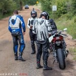 The team ponders trekking a dirt road on sportbikes to make it to Guanella Pass, one of the many incredible roads in CO.
