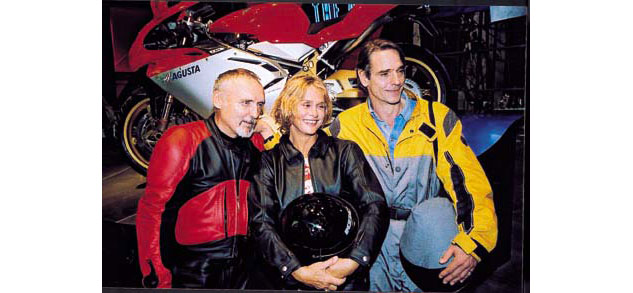 Dennis Hopper, Lauren Hutton and Jeremy Irons