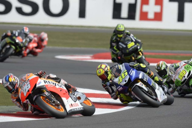 Valentino Rossi couldn't crack the top three but staved off Alvaro Bautista for his third-consecutive fourth-place finish.
