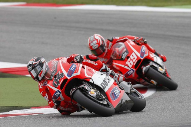 Andrea Dovizioso won this week's edition of the Duelin' Ducatis over Nicky Hayden.