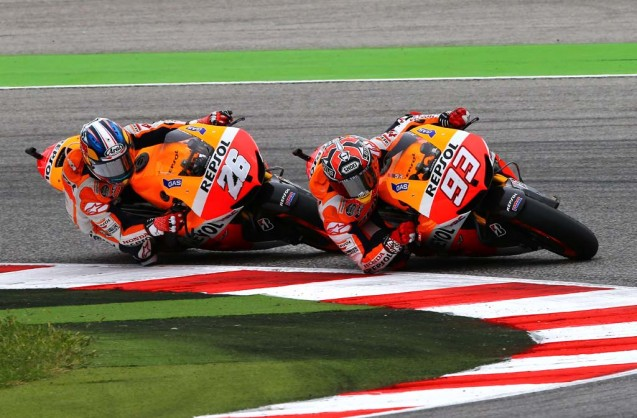 Marc Marquez continues to get the better of his teammate Dani Pedrosa.
