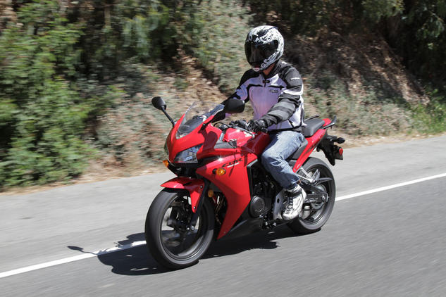 Hovering at six-feet tall, Roderick felt most comfortable aboard the Honda. From an appearance standpoint, all three testers gave the CBR500R top billing among the three bikes. This angle especially gives the appearance of a baby CBR1000RR.