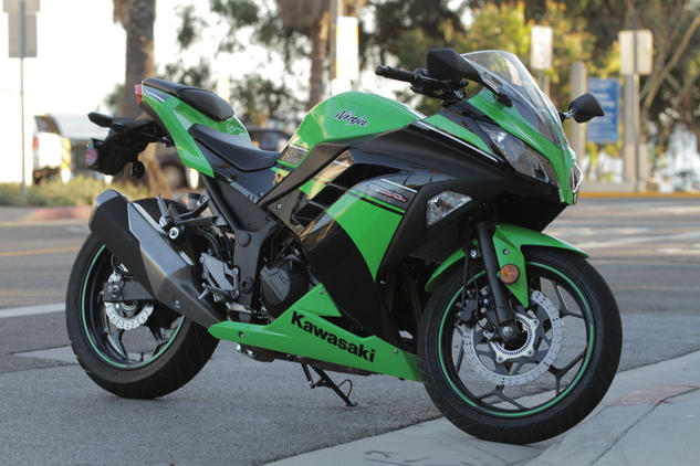 Standard Ninja 300s start at $4999, but this Special Edition paint scheme, complete with ABS, adds another $500. We think it looks great, and the ABS is a welcome addition.