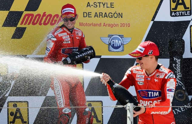 That's right, it's been more than three years since we last saw two Ducati riders on the podium.
