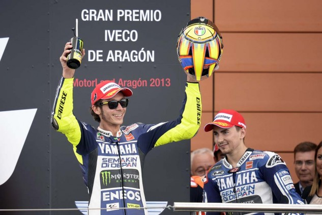 Valentino Rossi was all smiles after earning another podium. For Jorge Lorenzo however, the result was not as welcoming.