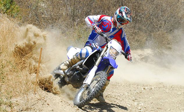 2013 Yamaha WR450F Action Cornering
