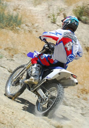 2013 Yamaha WR450F Action Rear