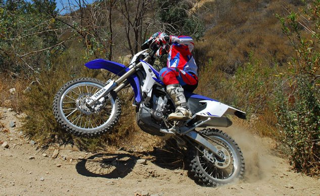 2013 Yamaha WR450F Action Wheelie