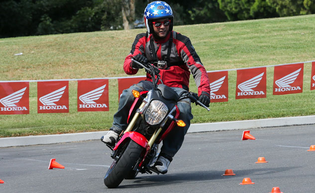 2014 Honda Grom Action Front
