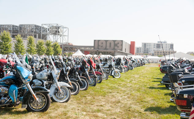Harley-Davidson 110th Anniversary Motorcycle Parking