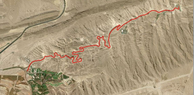 Jebel Hafeet Map
