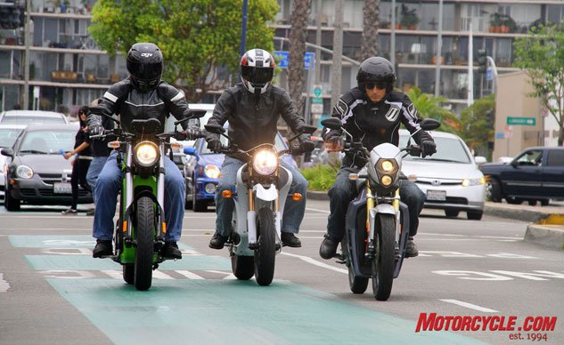 Lane Positions: Three Motorcycles