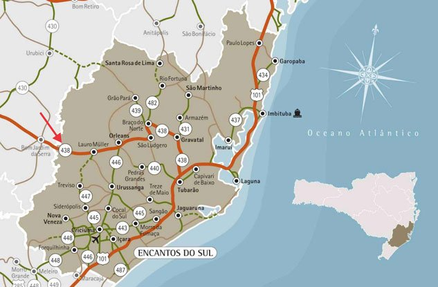 Serra do Rio do Rastro Map