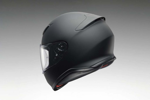 The spoiler hides four exhaust vents which helps make the top of the helmet more aerodynamic.