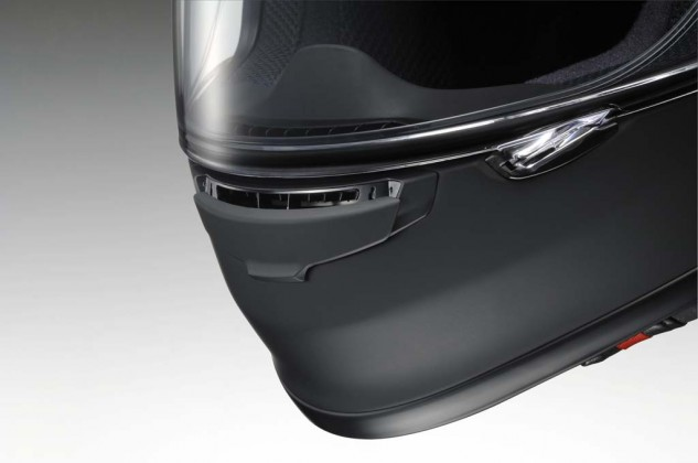 The three position chin vent directs the air up the inside of the visor for fog prevention.