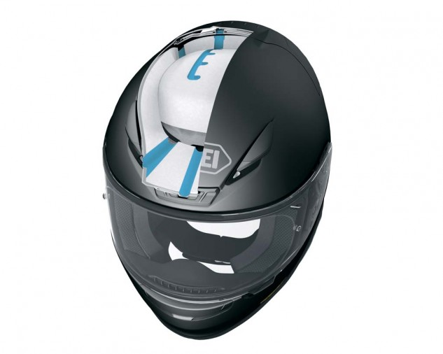 Revealing the dual layers of the EPS exposes how they are used to route the cool air through the helmet.