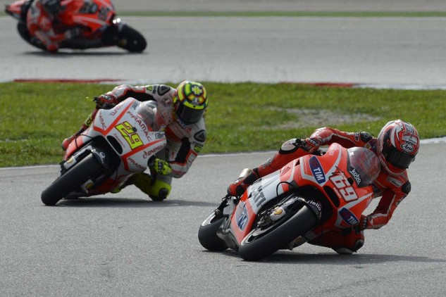 "New Ducati Corse boss Luigi ""Gigi"" Dall'Igna has hsi work cut out for him. Neither Nicky Hayden or Andrea Iannone finished the race in another disappointing showing for Ducati."