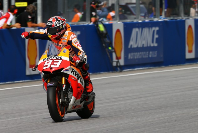 Marc Marquez didn't win - but at this stage of the season, he doesn't have to. A solid finish ahead of Jorge Lorenzo gets the job done.