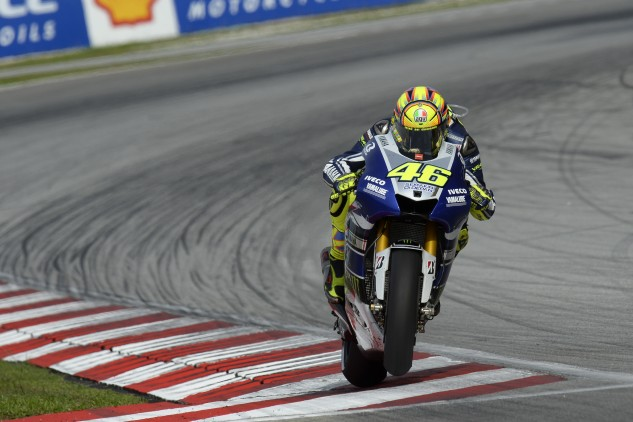 Another race, another fourth-place finish for Valentino Rossi.