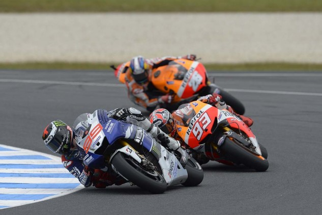 It was shaping up to be another Jorge Lorenzo vs. Marc Marquez battle when the rookie made a costly mistake.