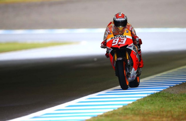Marc Marquez scored yet another podium and is still the favorite to win the championship.