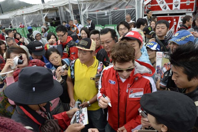 Nicky Hayden found himself an unlikely started on the front row of the grid.