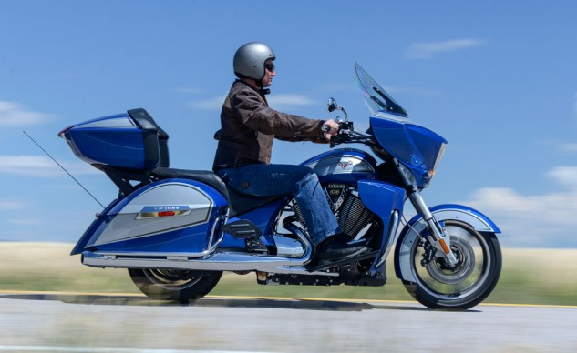 2014 Victory Ness Cross Country-Limited Edition Blue Action Right