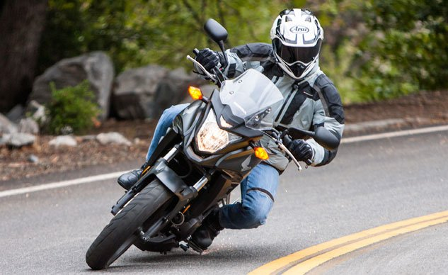 2013 Honda CB500X Action Cornering