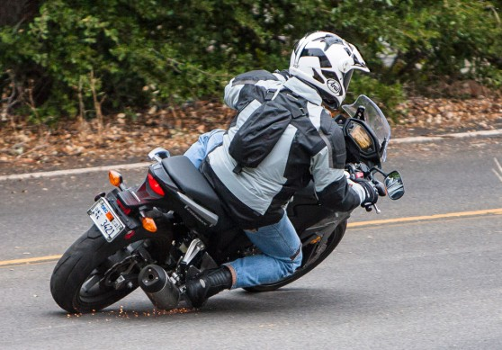 2013 Honda CB500X Action Right Rear
