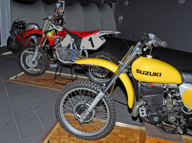 Roger DeCoster and Jeremy McGrath Motocross Bikes