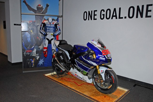 Jorge Lorenzo Racing Suit and Factory Yamaha Motorcycle