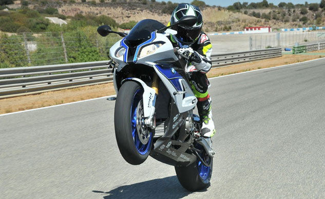 BMW HP4 Wheelie