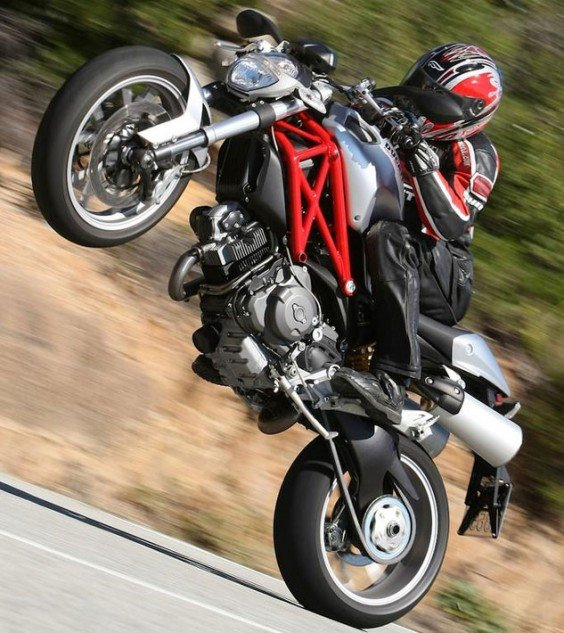 Ducati Monster 1100 Wheelie