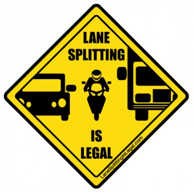 Lane Splitting Sign